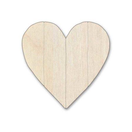 Silueta corazón madera de chopo entablillado