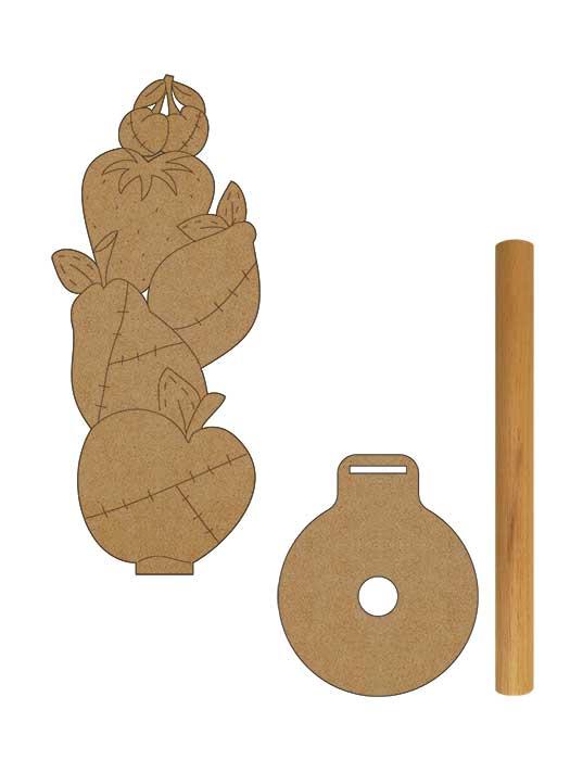 porta rollo madera frutas de silu