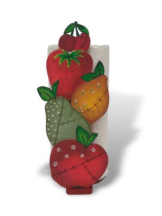 porta rollo cocina frutas pintado en silu