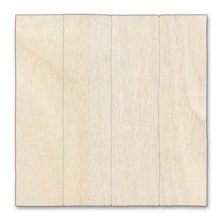 Silueta cuadrado madera de chopo entablillado