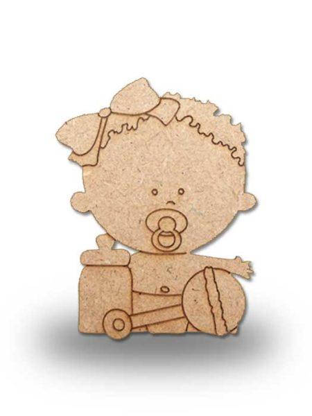 Silueta de madera bebe 1