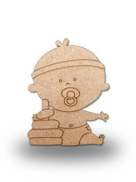 silueta de madera bebe 4 SILU