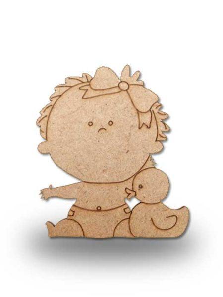 Silueta de madera bebe 5