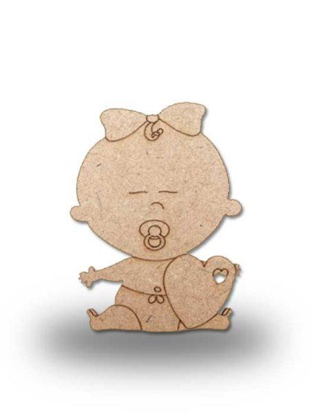 Silueta de madera bebe 7