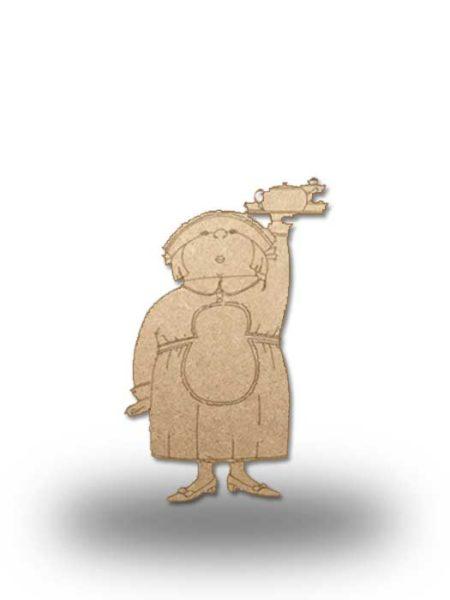 Silueta de madera camarera 1
