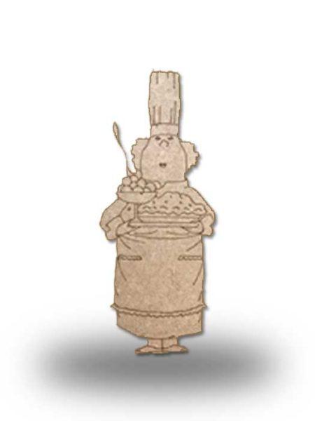 Silueta de madera camarera 7
