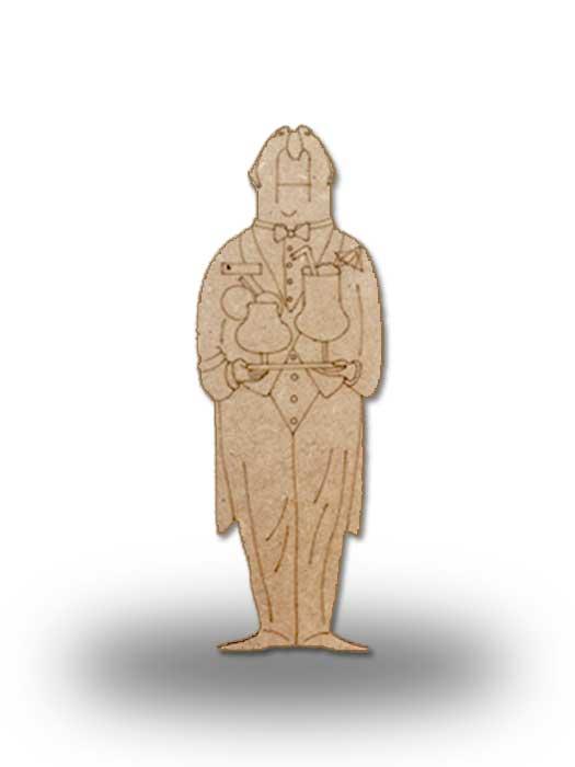 silueta de madera camarero 10 SILU