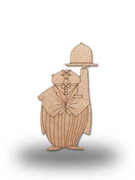 Silueta de madera camarero 4