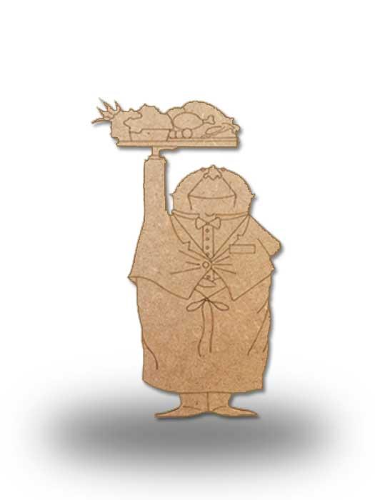 silueta de madera camarero 6 SILU