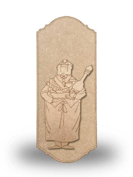 silueta de madera camarero 11 con base SILU