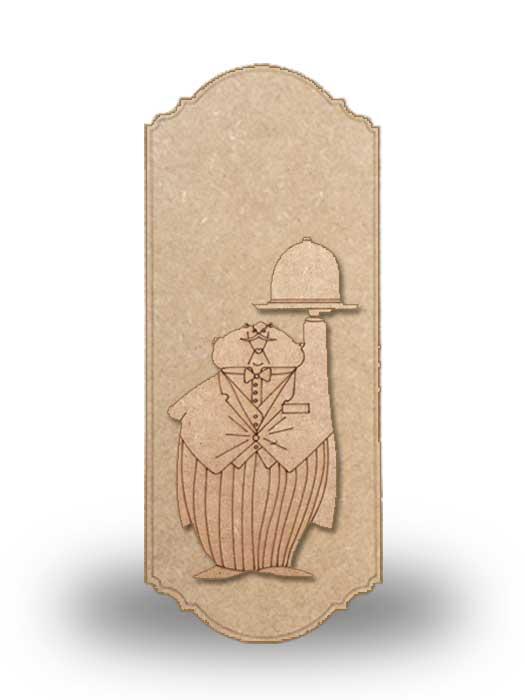 silueta de madera camarero 4 con base SILU