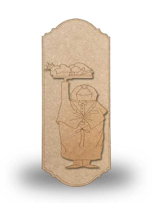 silueta de madera camarero 6 con base SILU