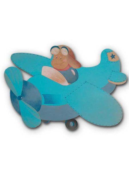 Silueta de madera avión
