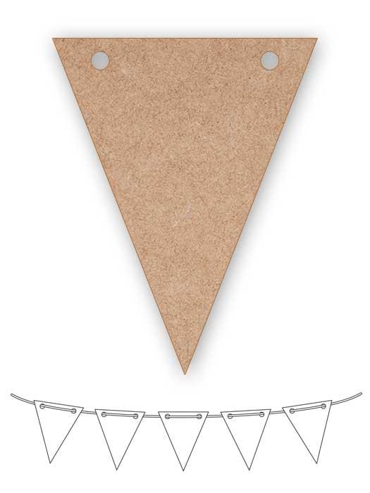 banderín de madera triangular silu