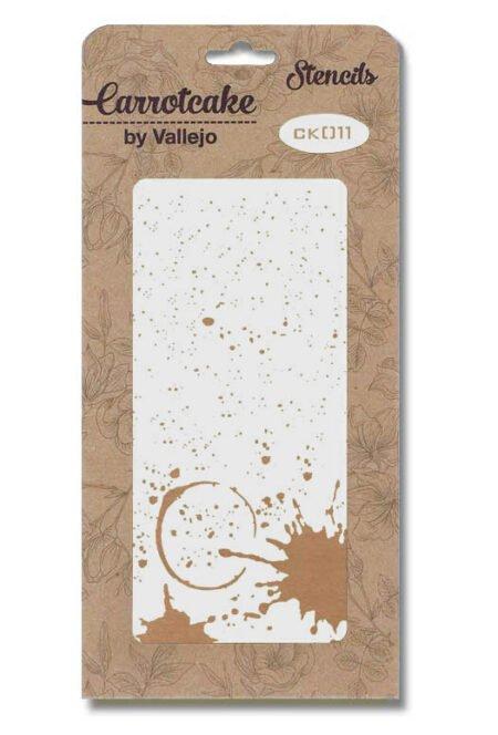 Stencil colección Carrotcake CK011 fondo manchado