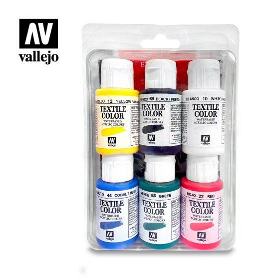 pack pinturas vallejo textile color