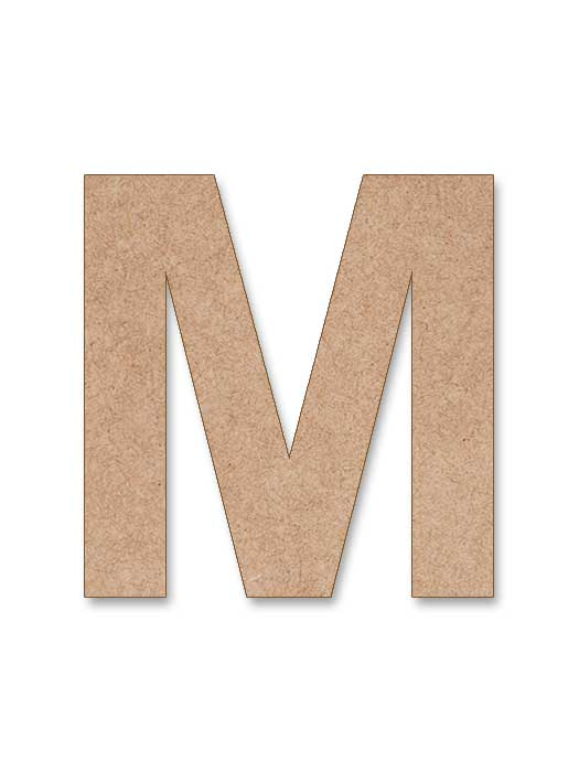 letra de madera arial bold en silu