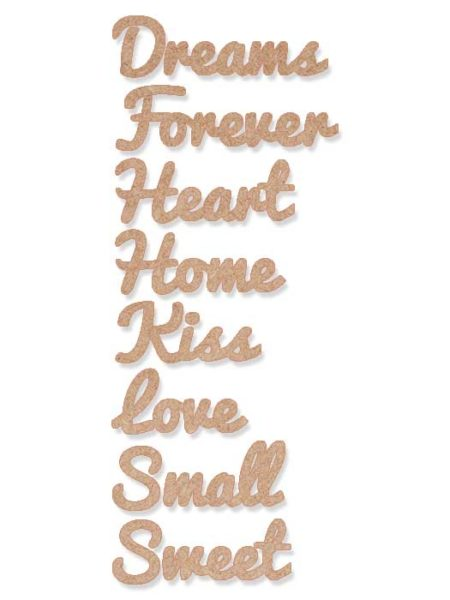 Palabra de madera para decorar