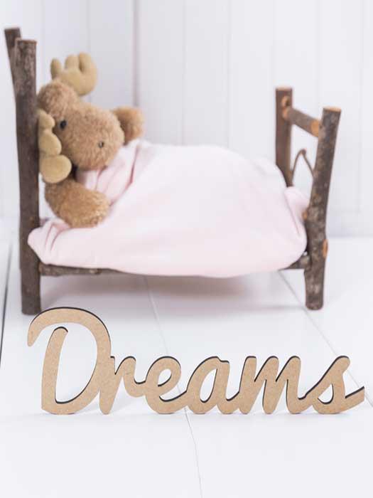 palabra de madera DREAMS de silu