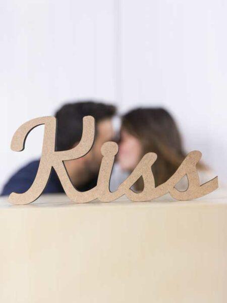 Palabra de madera KISS