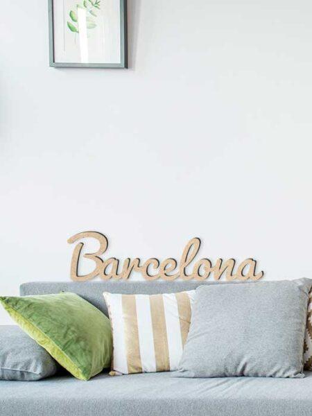 Palabra de madera BARCELONA