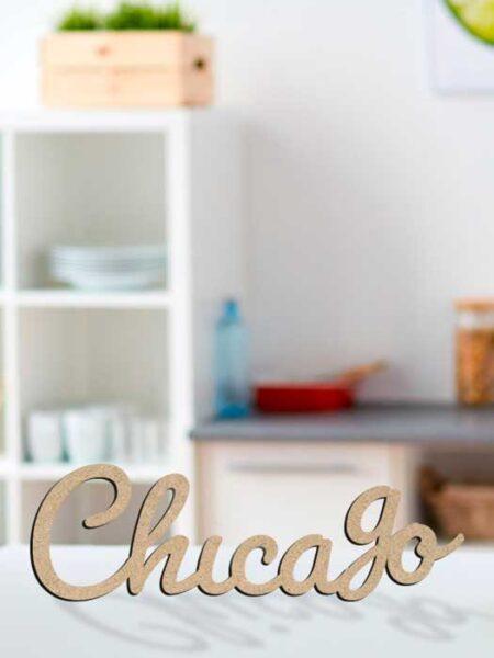 Palabra de madera CHICAGO