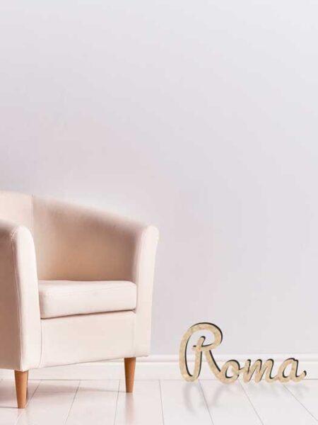 Palabra de madera ROMA