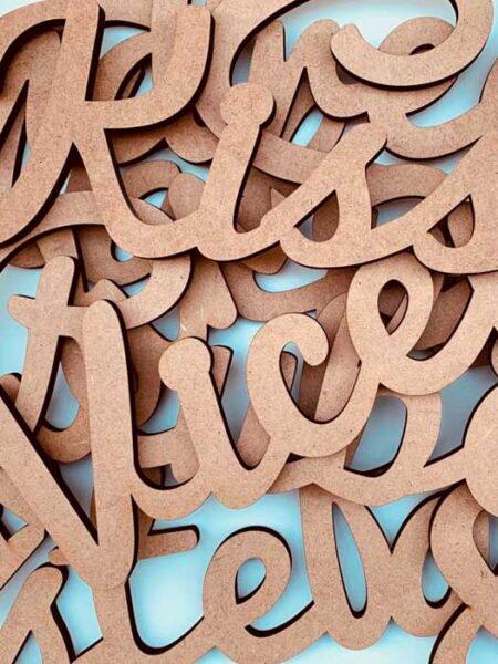 Palabra de madera personalizada