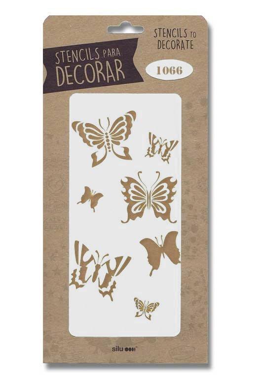 stencil mariposas silo 1066