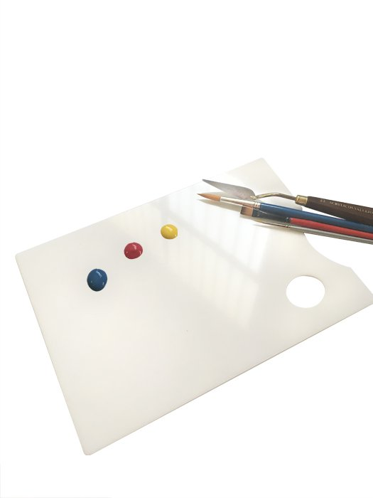paleta de pintor metacrilato