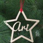 estrella navidad personalizada
