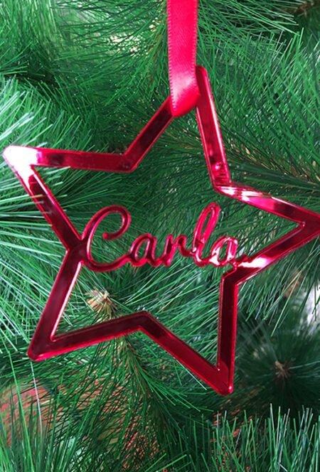 Estrella Navidad Personalizada Metacrilato