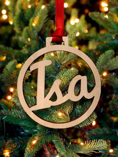 Bola Navidad Personalizada Haya