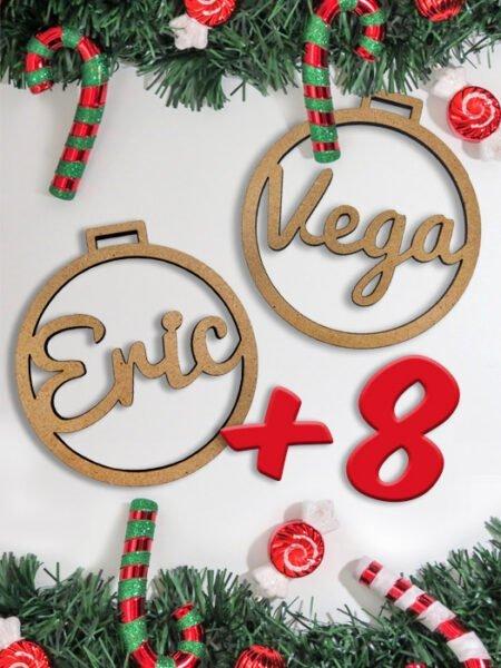 Pack 10 Bolas Navidad Personalizadas <br>(2 Gratis)