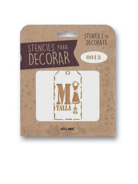 Stencil etiqueta talla 0013