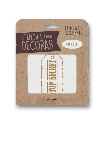 Stencil etiqueta Top Secret 0014