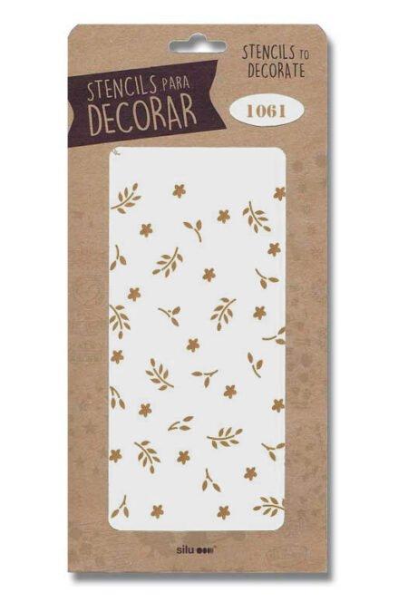 Stencil flores 1061