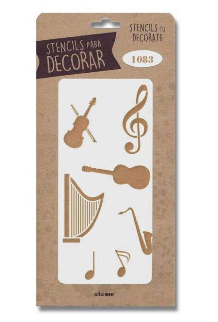 Stencil instrumentos musicales 1083