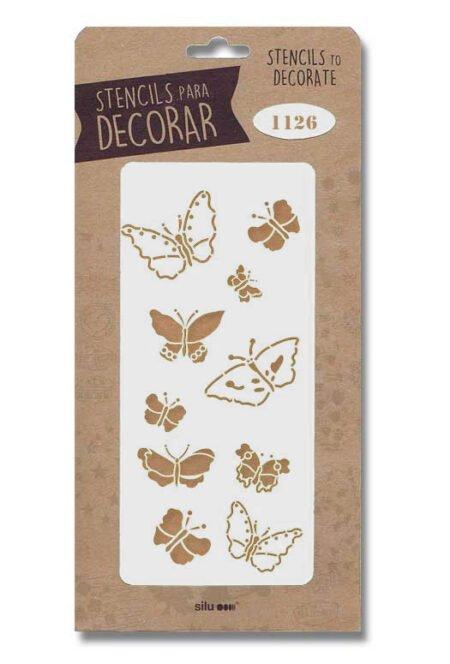 Stencil mariposas 1126