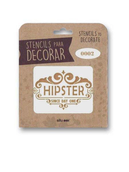 Stencil publi Hipster 0002
