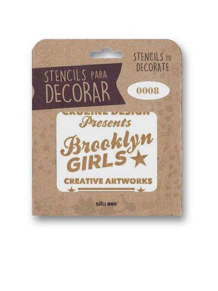 Stencil publi Brooklyn Girls 0008