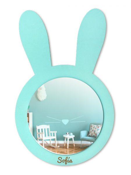 Espejo Infantil Conejo Colores