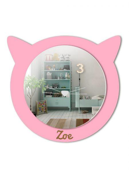 Espejo Infantil Gato Color