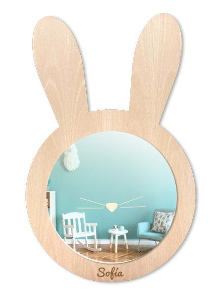 Espejo Infantil Conejo Color