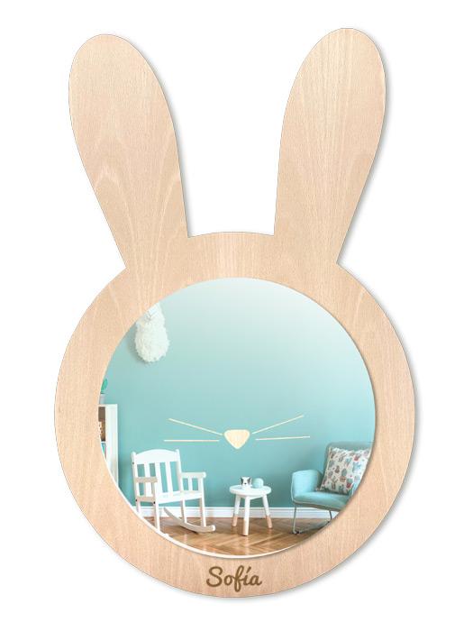 espejo infantil conejo haya