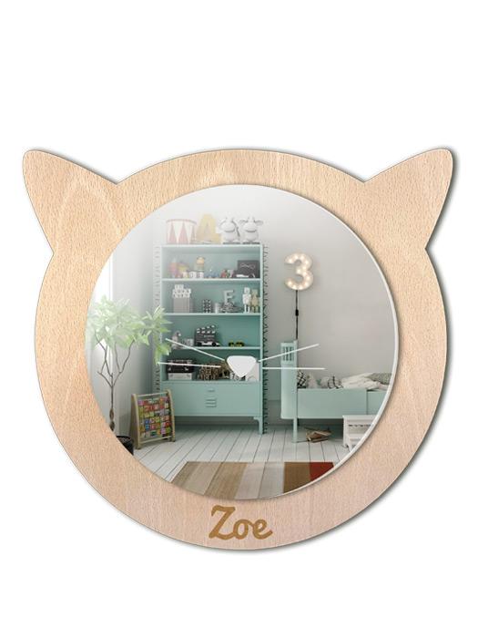 espejo infantil de haya gato