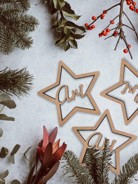 Pack 10 Estrellas Navidad Personalizadas <br>(2 Gratis)