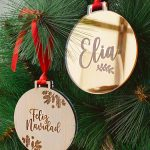 bolas de navidad con nombre personalizado de luxe