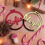 pack bolas navidad personalizadas metacrilato