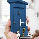 puerta ratoncito pérez azul marino